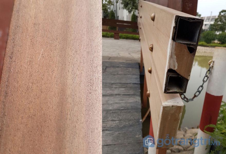 Công trình ngoài trời khi sử dụng gỗ nhựa trong nhà nhanh hư hỏng - Ảnh: Internet