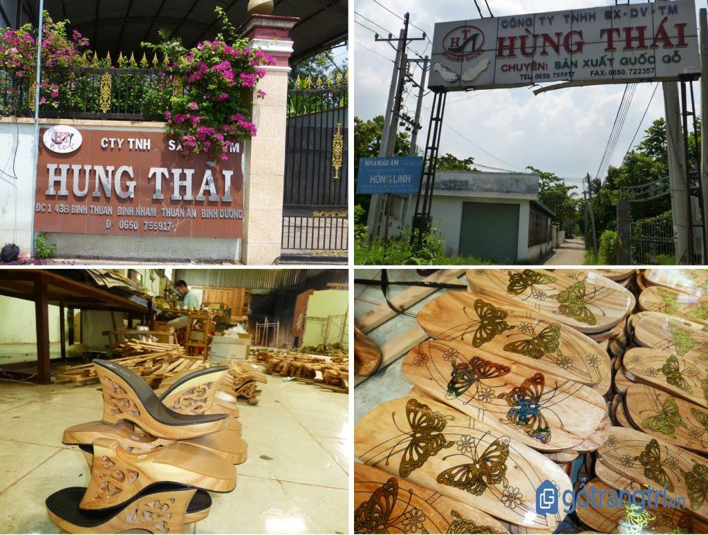 Công ty Hưng Thái - một công ty sản xuất guốc mộc phát triển tại làng nghề guốc truyền thống Bình Dương. (ảnh: internet)
