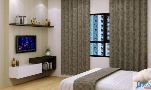 Hướng dẫn cách chọn mua và bài trí kệ tivi phòng ngủ gia đình