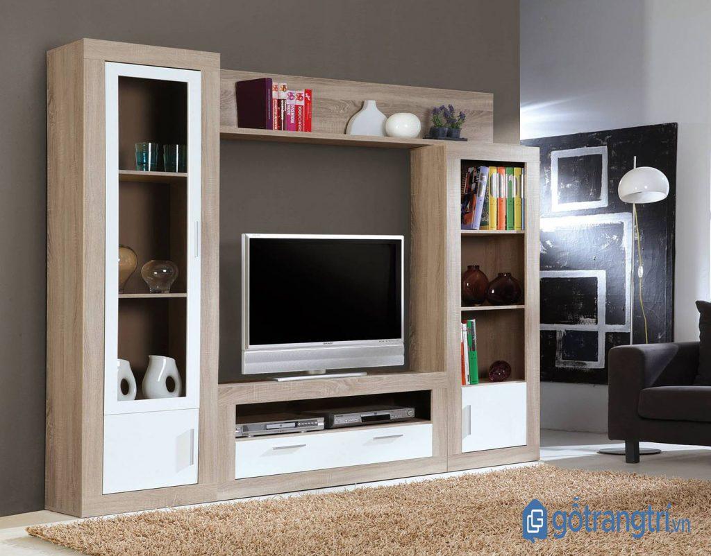 Lưu ý chọn kích thước và chất liệu kệ tivi cho phòng khách nhỏ phù hợp. (Ảnh: internet)