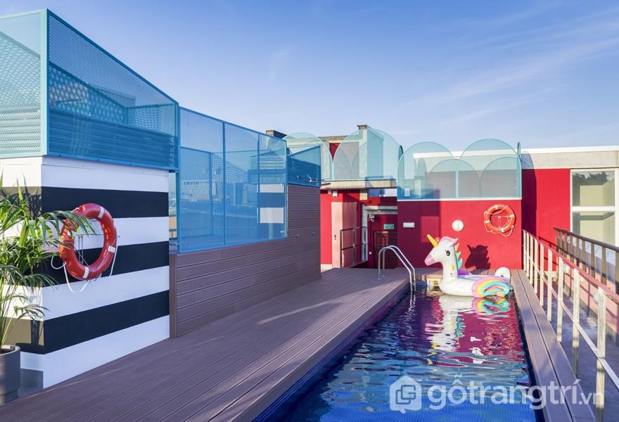 Những mảng màu đầy cá tính trong khách sạn nổi tiếng (Ảnh: Luis Beltran)