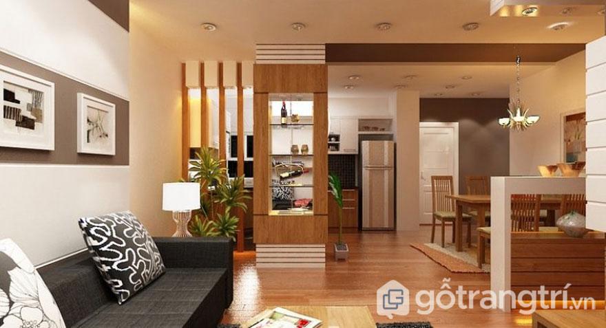 Ánh sáng vật lý luôn tạo cho không gian nội thất nhà đẹp nổi bật, sang trọng hơn - Ảnh: Internet