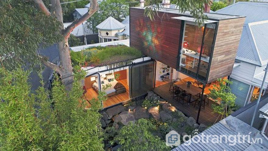 Kiah House - Công trình kiến trúc xanh với 2 khu vực tách biệt phòng làm việc và phòng ngủ (Ảnh: Internet)