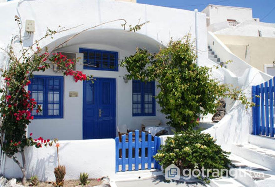 """Kiến trúc """"nhà hang"""" độc nhất vô nhị tại đảo Santorini - Ảnh: Internet"""