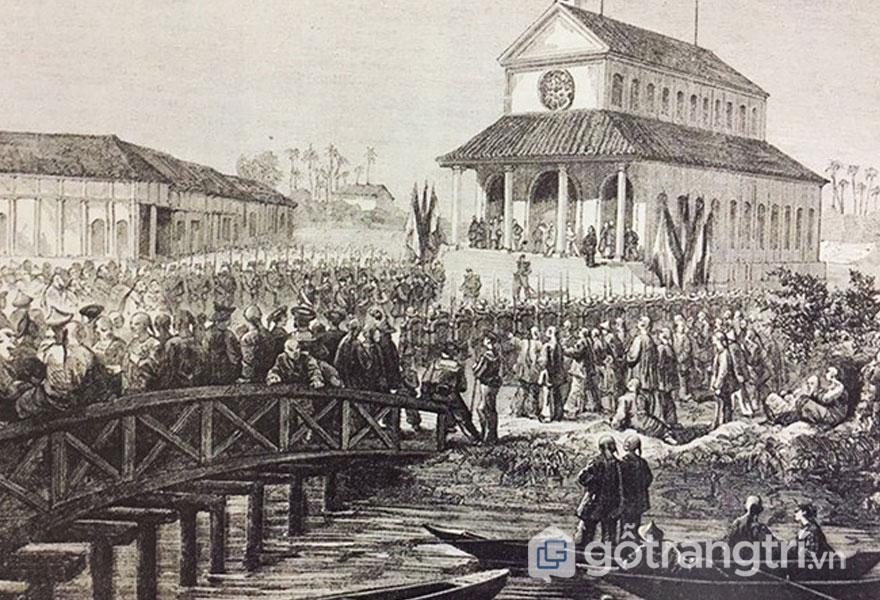 Khánh thành nhà thờ Đức Bà vào năm 1863 - Ảnh: Đình Phú