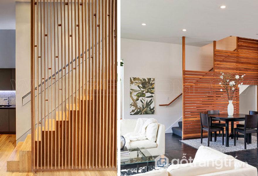 Lam gỗ trang trí mang lại sự thông thoáng, dễ chịu cho không gian sống (Ảnh: Internet)