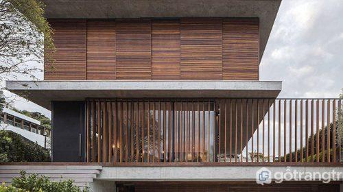 Lam gỗ trang trí - Vật liệu mộc mạc trong kiến trúc nhà hiện đại