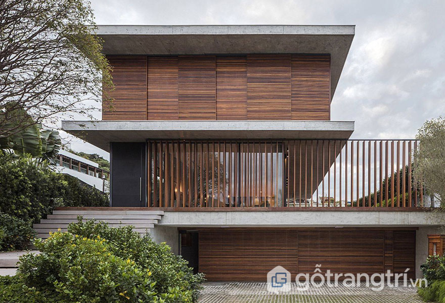 Thanh lam bằng gỗ được dùng để ốp mặt tiền, ốp tường bao quanh nhà (Ảnh: Internet)