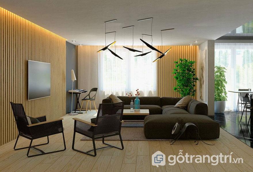 Lắp đặt hệ lam sẽ cải biến không gian phòng khách thêm sáng và đẹp hơn (Ảnh: Internet)