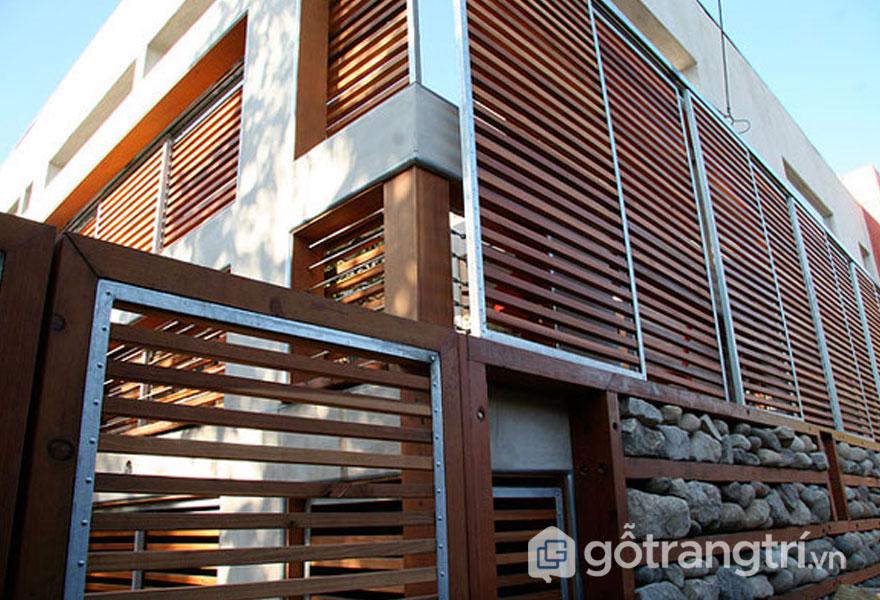 Sử dụng làm lam chắn nắng giảm tải được tiếng ồn mang đến sự mát mẻ cho ngôi nhà (Ảnh: Internet)