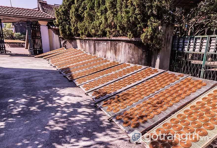 Hương được xếp đầy trên những sạp nhỏ để phơi khô dưới nắng vàng - Ảnh: Mai Minh Đức
