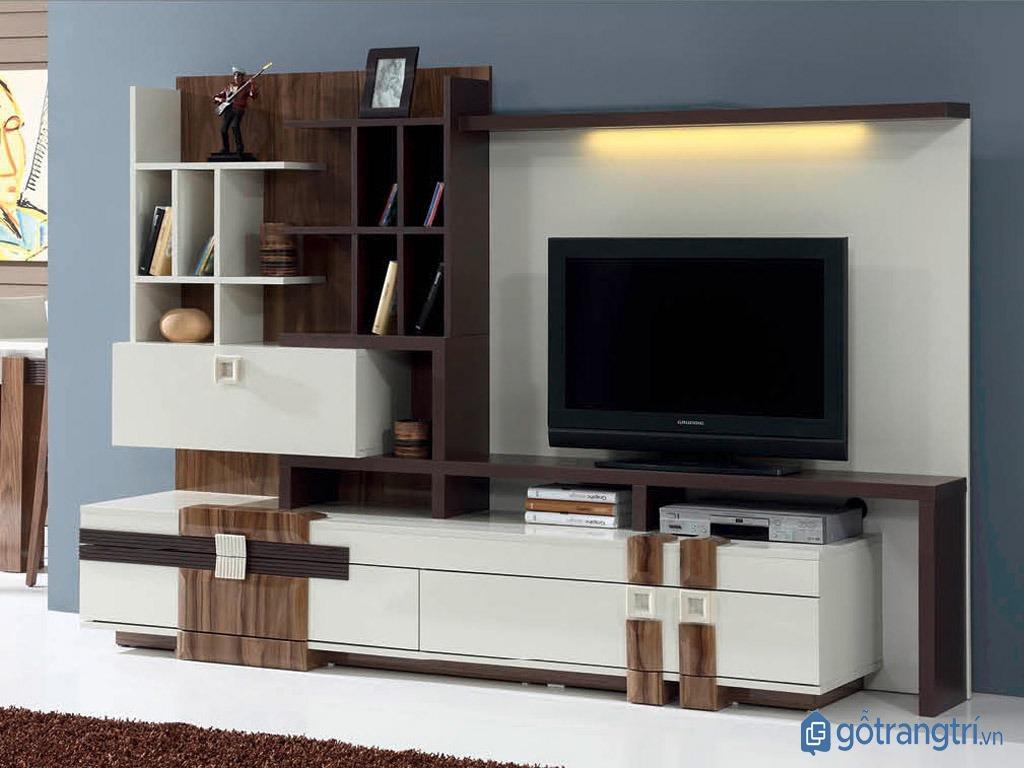 Chọn kệ tivi thông minh phù hợp với kích thước căn phòng. (Ảnh: internet)