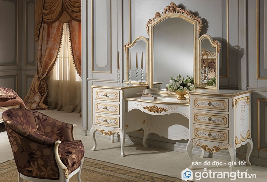 Mẫu bàn trang điểm cổ điển đẹp phong cách hoàng gia (ảnh internet)