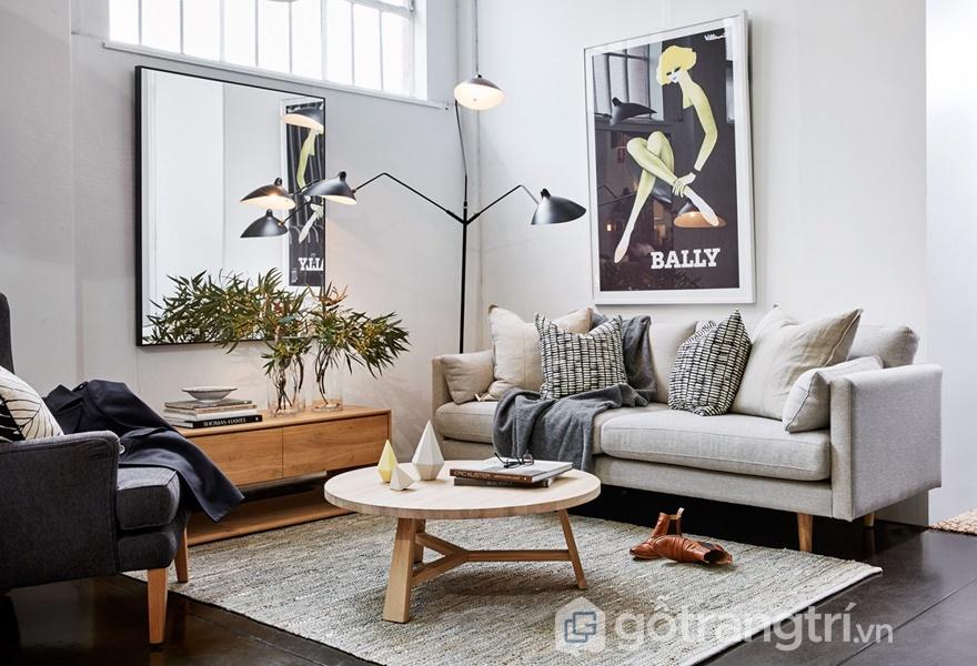 Thiết kế phòng khách với cách bố trí màu sắc chuyên nghiệp (Ảnh Internet)