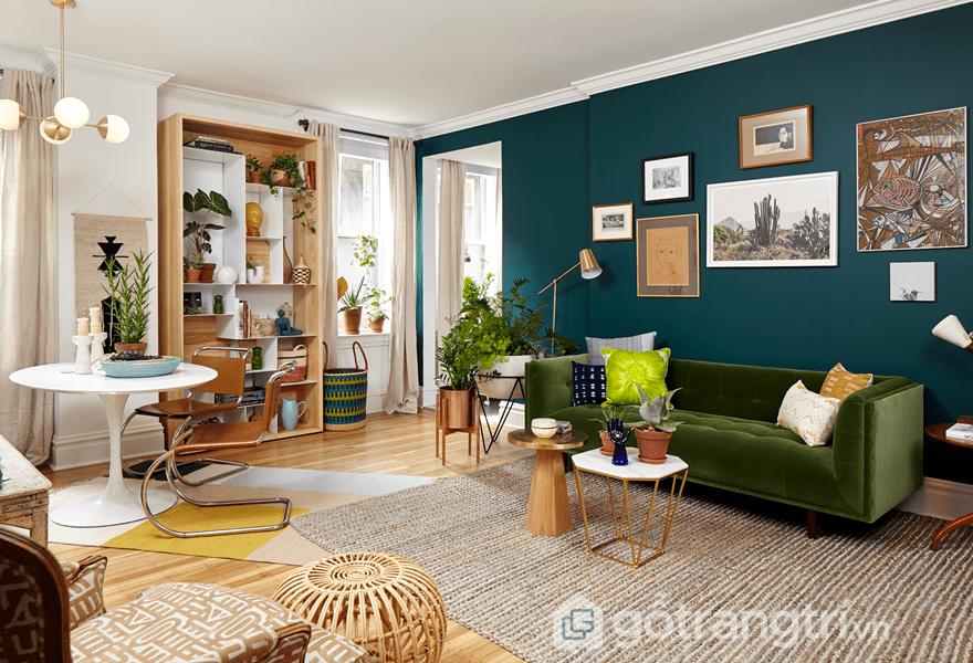 Cải thiện không gian sống với những bức tường được sơn màu sẽ tạo sự tươi mới và sống động cho không gian (Ảnh Internet)