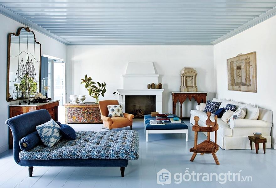 Kết hợp nhiều chất liệu, nhiều phong cách và kiểu dáng nội thất trong cải thiện không gian sống (Ảnh Internet)