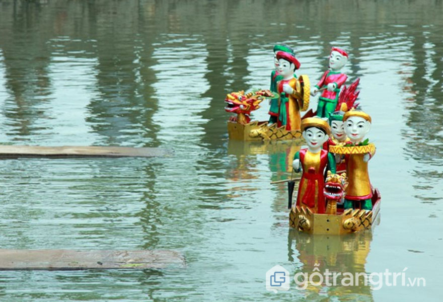 Nghệ thuật múa rối: Múa Rồng, Cá bơi lội, Thạch Sanh đánh trăn tinh, Múa Phượng, Hát Văn - Ảnh: Internet
