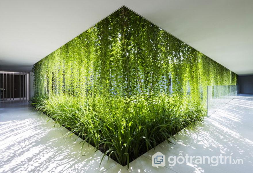 Kiến trúc spa bên trong Naman Pure Spa cũng lấy màu xanh hoa lá làm cảm hứng - Ảnh: Internet