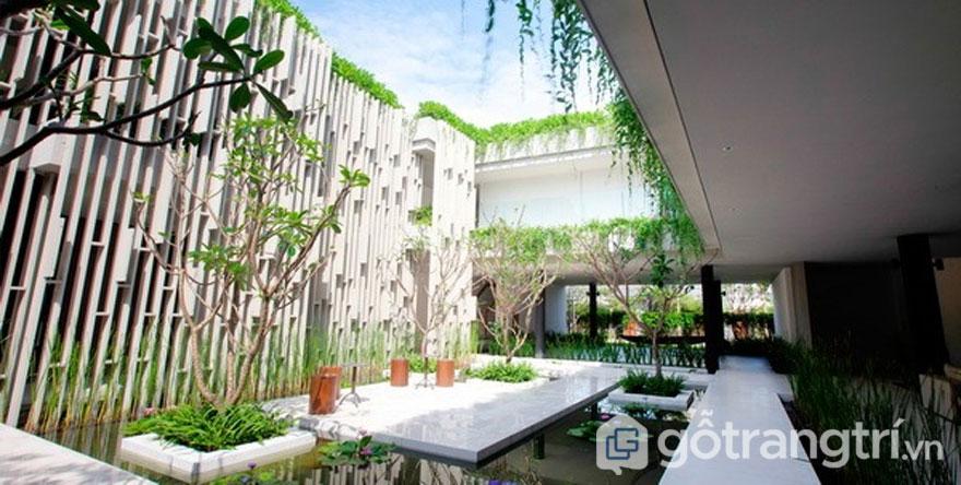 Naman Pure Spa như là ốc đảo xanh giữa lòng thành phố - Ảnh: Internet