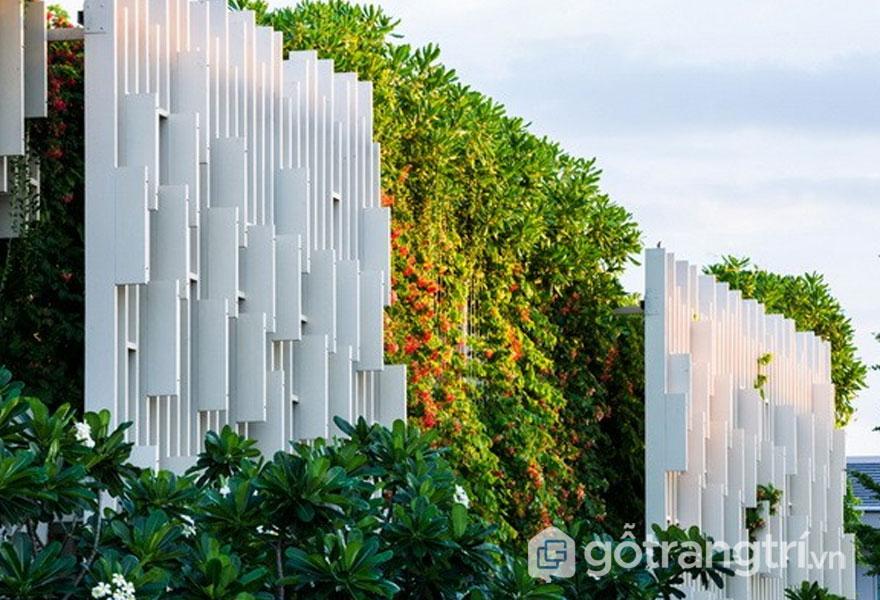 Mặt ngoài của công trình kiến trúc spa đẹp - Ảnh: Internet
