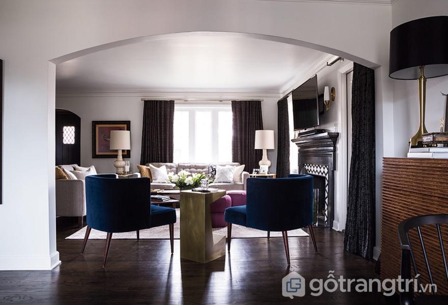 Kiến trúc mái vòm được thể hiện bên trong căn hộ phong cách Tudor (Ảnh internet)