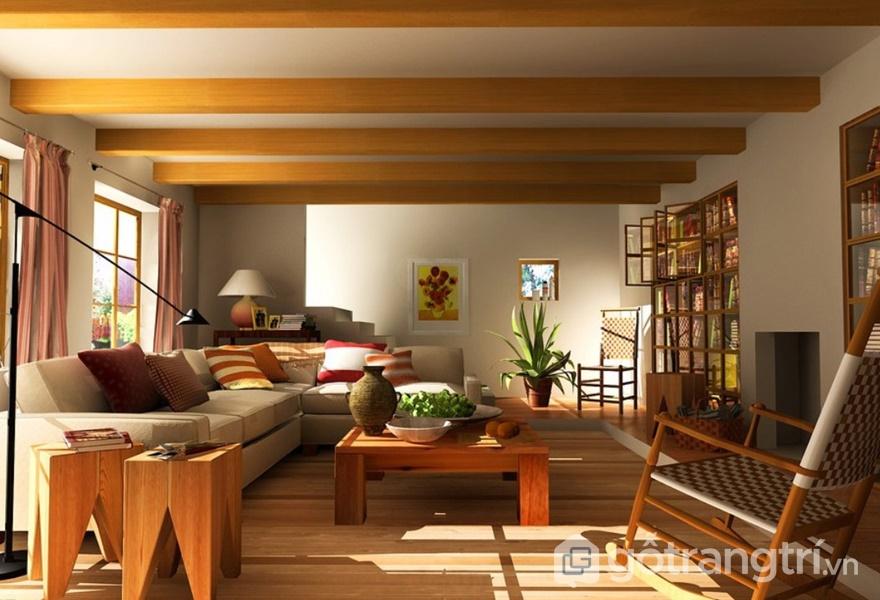 Không gian nội thất phong cách Á Đông (ảnh internet)