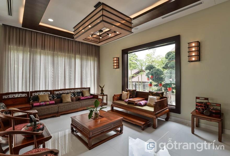 Sự thanh lịch trong phong cách Á Đông trong thiết kế nội thất (ảnh internet)