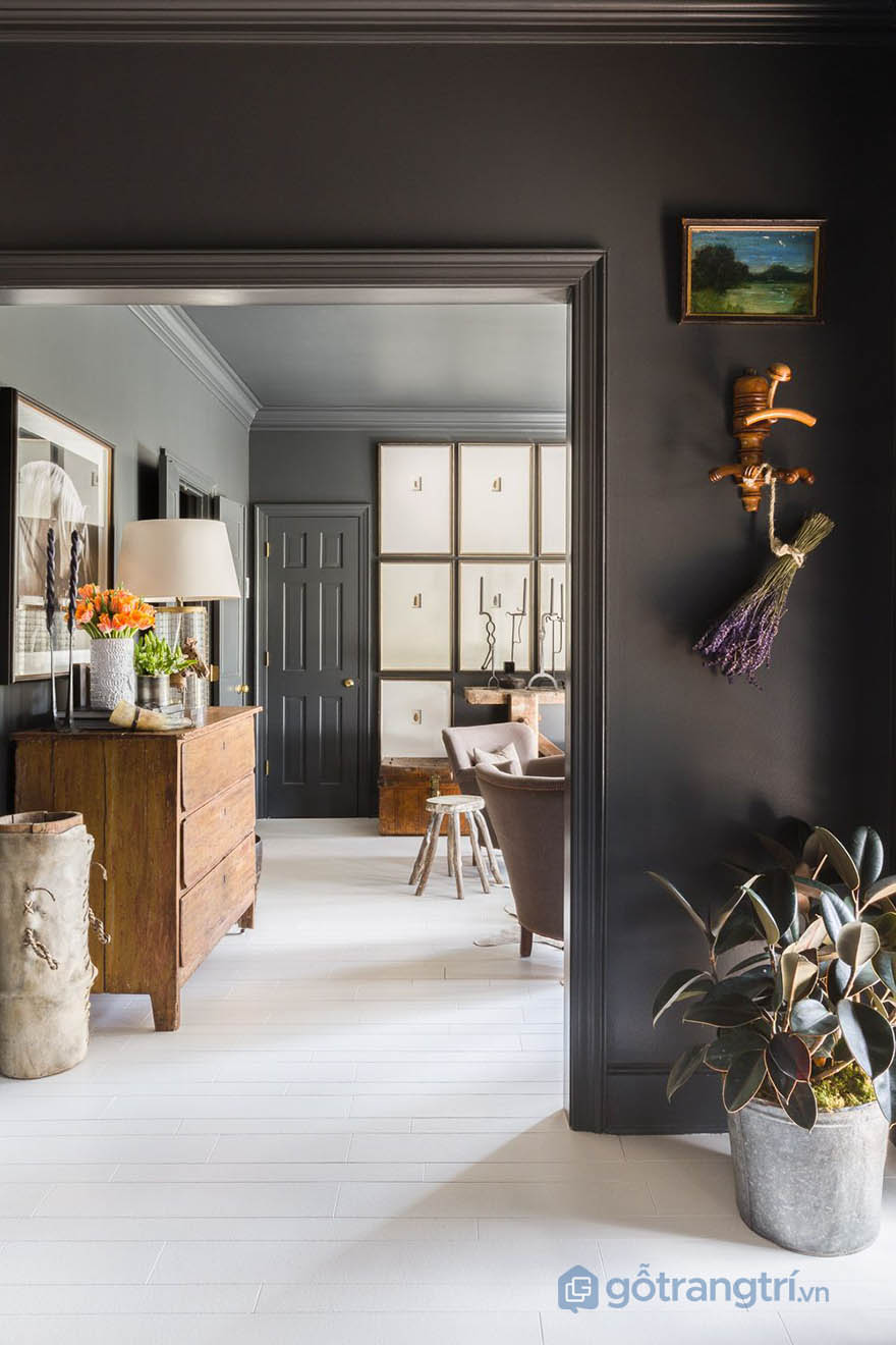 Thiết kế căn hộ mang phong cách Tudor (ảnh Alyssa Rosenheck)