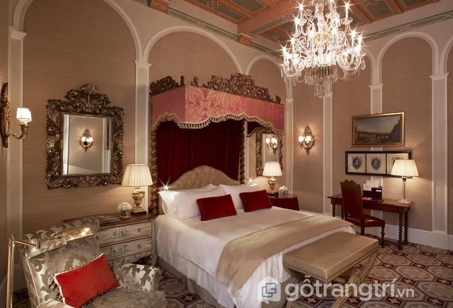 Không gian phòng ngủ mang phong cách Renaissance (ảnh internet)