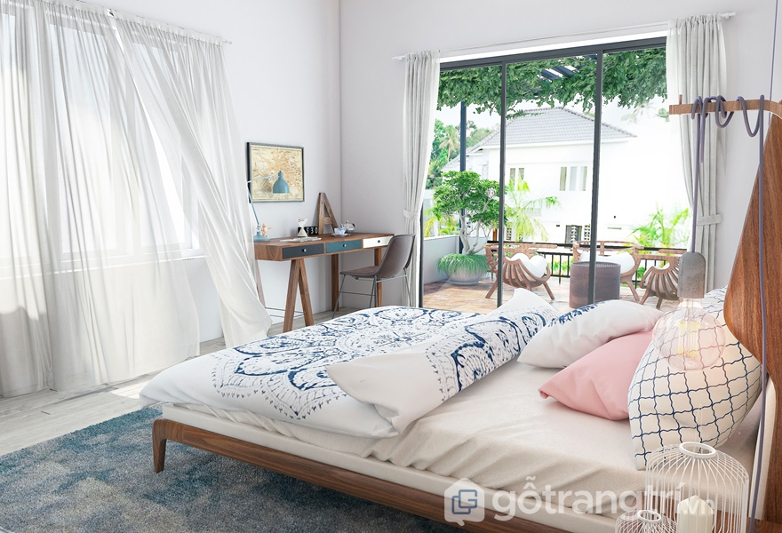Những đường cong, họa tiết sóng biển được ứng dụng trong phong cách nội thất Streamlining (ảnh internet)