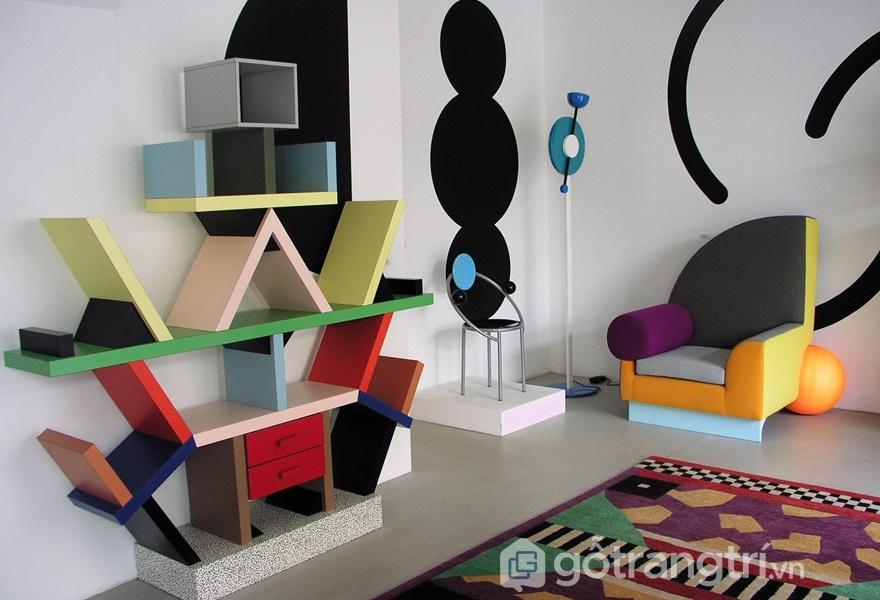 Phong cách Postmodernism có màu sắc rực rỡ (ảnh internet)