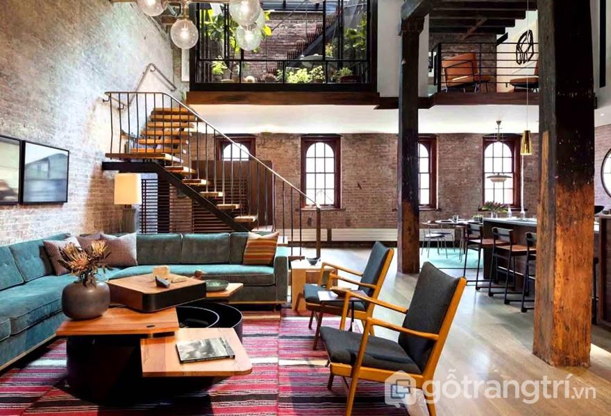 Đồ nội thất trong phong cách Urban (ảnh internet)