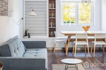Thiết kế phòng khách kết hợp phòng ăn sáng tạo trong căn hộ nhỏ
