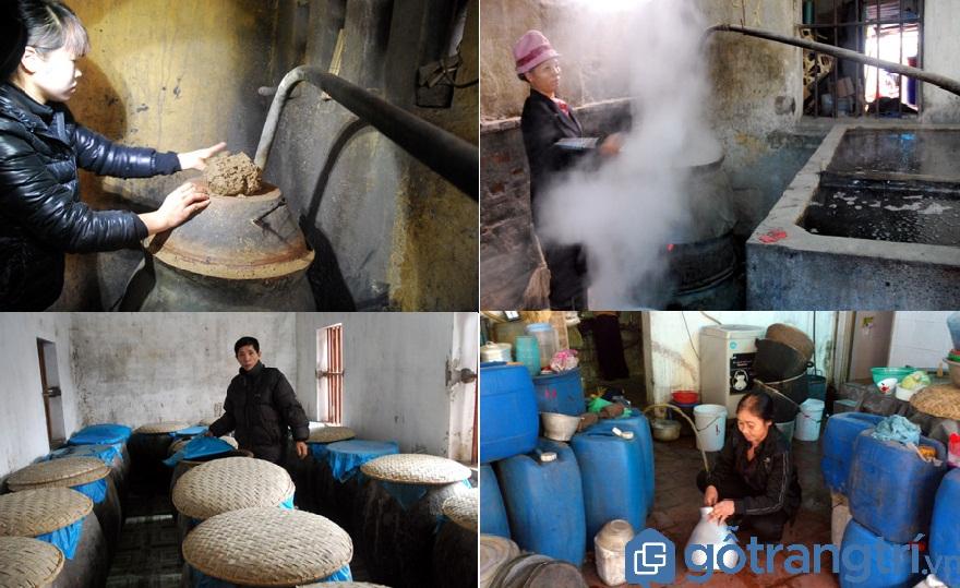 Rượu làng Vân được nấu thủ công (Ảnh: Internet)