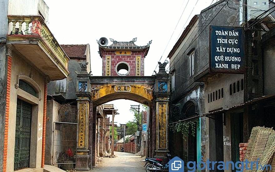 Cổng làng Vân xã Vân Hà, huyện Việt Yên, tỉnh Bắc Giang (Ảnh: Internet)