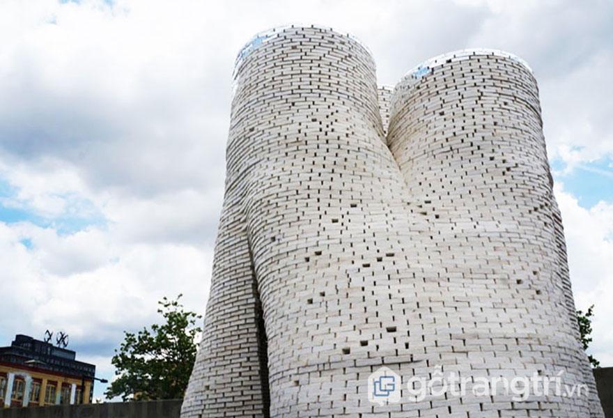 Sợi nấm được chế tạo ra những viên gạch men để sử dụng công trình nhà ở (Ảnh: Internet)