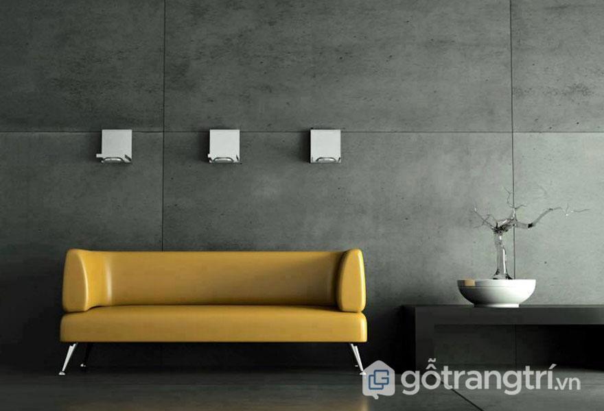 Tạo sự loang lổ màu xám đẹp, vời bề mặt tường nhẵn mịn, dễ dàng vệ sinh lau chùi - Ảnh: Internet