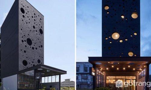 Onyx Lit House - Ngôi nhà thiết kế bọt biển siêu độc đáo, mới lạ