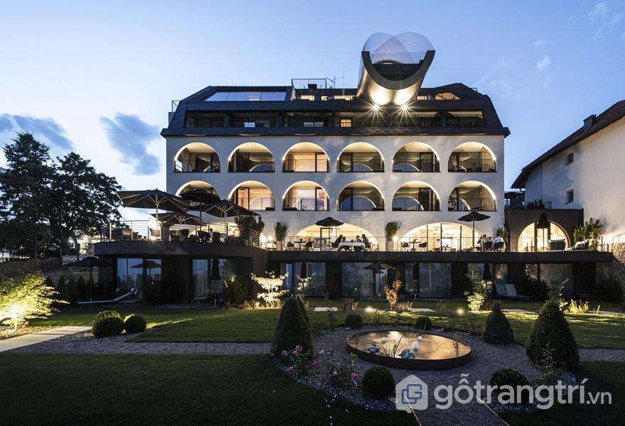 Thiết kế khách sạn Gloriette với vẻ đẹp trang nhã, hiện đại (ảnh: ELLE DÉCOR)