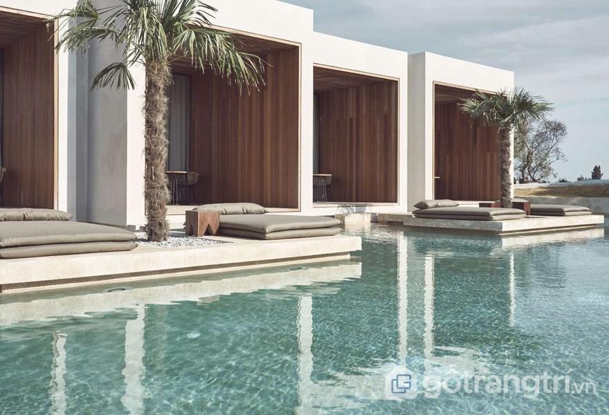 Thiết kế khách sạn nghỉ dưỡng giữa thiên nhiên đất trời (ảnh: ELLE DÉCOR)