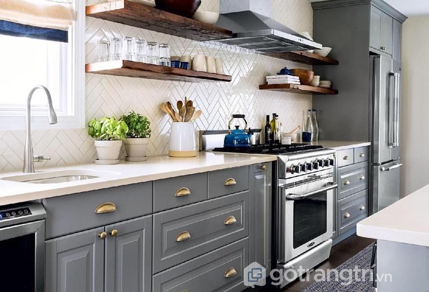 Lớp sơn matte thể hiện sự thời thượng cho căn bếp (ảnh internet)