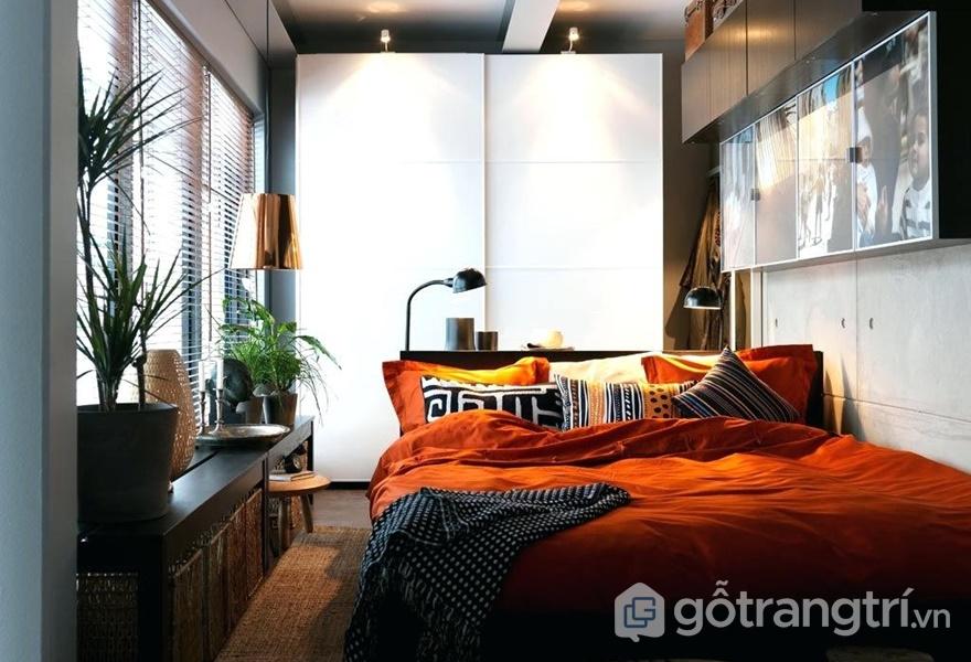 Tủ quần áo cần gọn gàng, được đặt tại những vị trí thích hợp tùy theo từng không gian (ảnh internet)