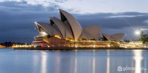 Nhà hát Opera Sydney là tòa nhà nổi tiếng có kiến trúc độc đáo (Ảnh internet)