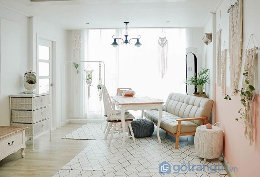 Trang trí nội thất theo mùa: phòng khách giữa mùa hè và mùa thu năm 2017 (nguồn: noithathomexinh)