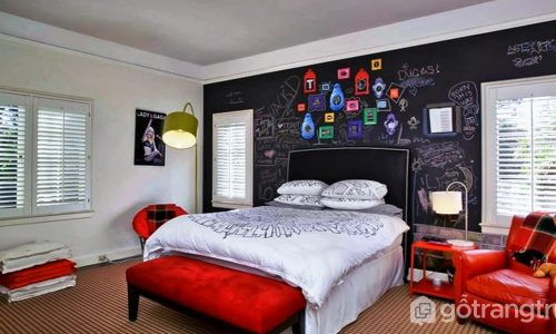 Tường bằng bảng đen - điểm nhấn mới cho không gian sống ấn tượng