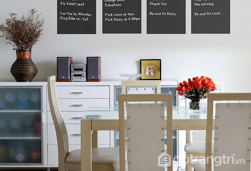 Bạn hoàn toàn có thể tự tạo cho mình những bức tường bằng bảng đen (ảnh internet)