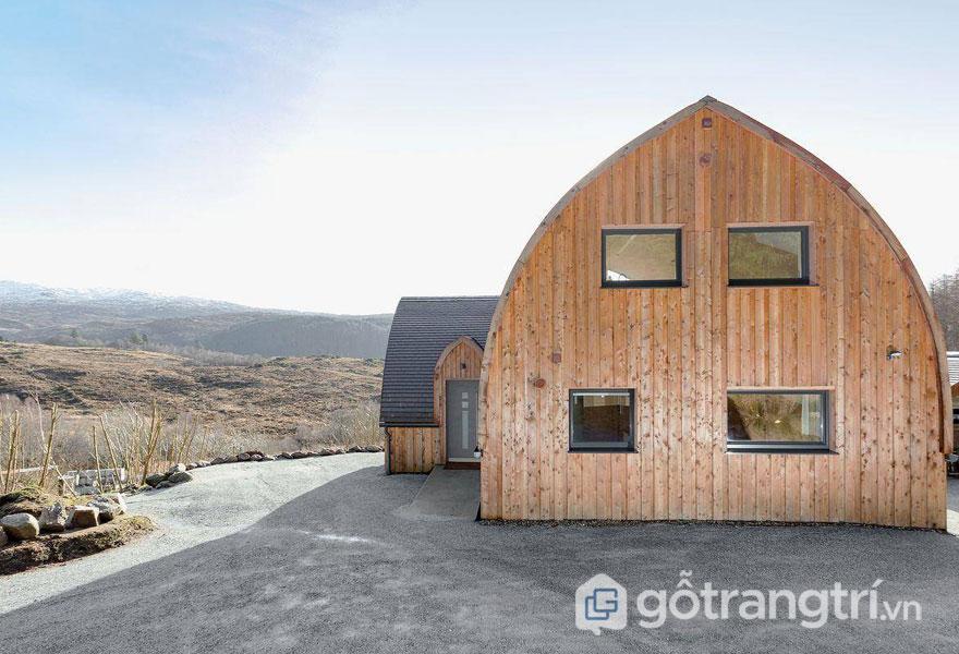Ngôi nhà ở Scotland đã được xây dựng từ 500 bó rơm (Ảnh: Intenet)