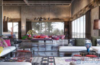 Pha trộn các màu sắc sặc sỡ - xu hướng thiết kế nội thất năm 2019