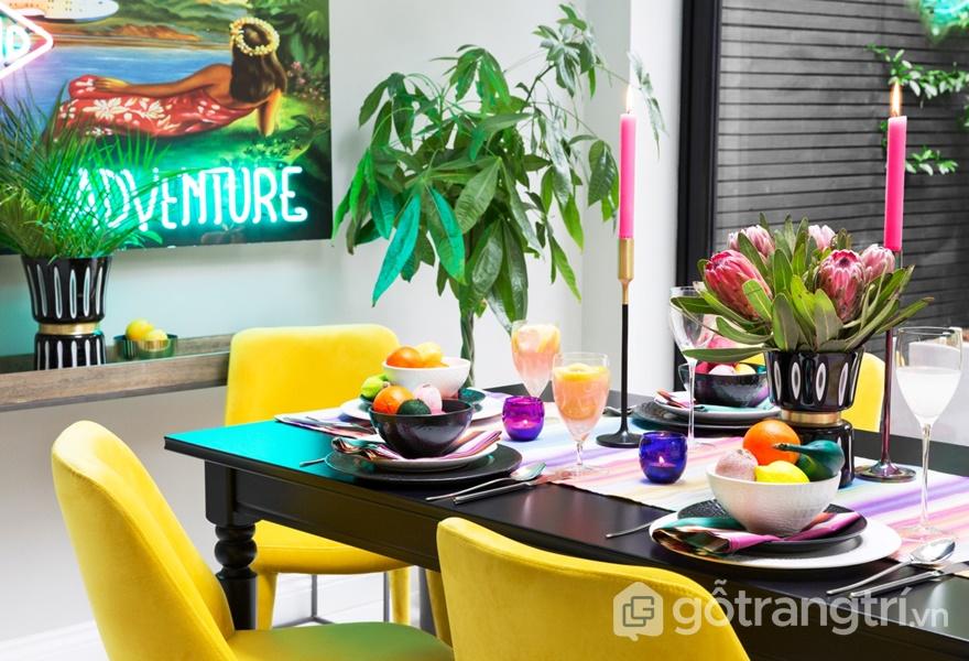 """Các màu sắc làm nổi bật không gian sẽ là xu hướng thiết kế nội thất """"lên ngôi"""" năm 2019 (ảnh internet)"""