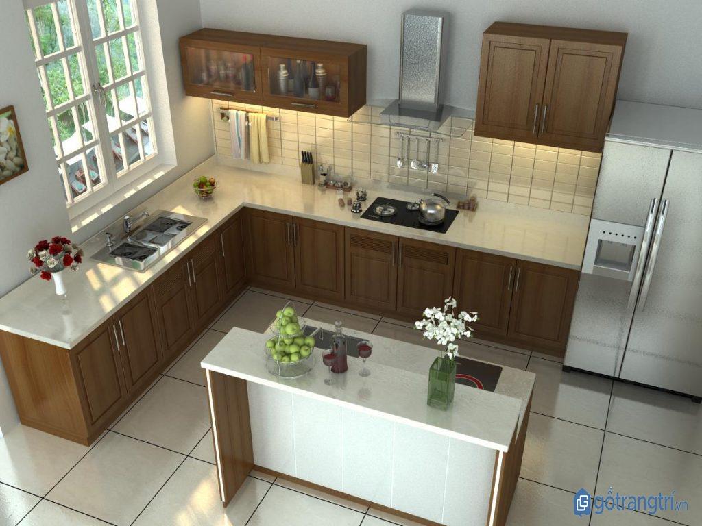 Bố trí những vật dụng trong căn bếp thông minh một cách khoa học, hợp lý và linh hoạt. (ảnh: internet)